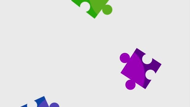 拼圖作品團隊動畫高清 - 部分 個影片檔及 b 捲影像