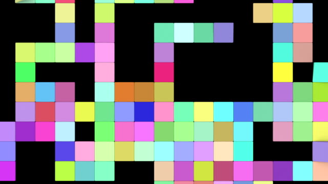 puzzle transition screen with color id and alpha channel - puzzle video stock e b–roll