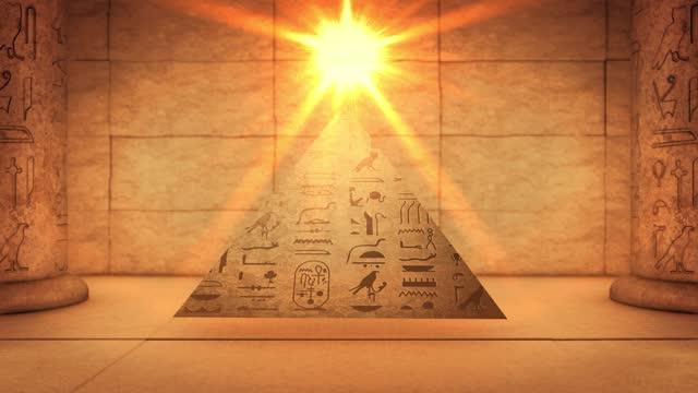 pyramid giza kairo grav, hieroglyfer på forntida egyptiska stone carving bakgrund - pyramidform bildbanksvideor och videomaterial från bakom kulisserna