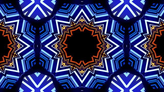 piramit kaleydoskop vj döngü - sanat, kültür ve eğlence stok videoları ve detay görüntü çekimi