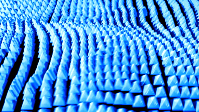 pyramid ocean grid flow pattern abstract background blue - tron sci fi bildbanksvideor och videomaterial från bakom kulisserna