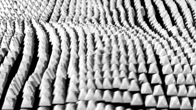 pyramid ocean grid flow pattern abstract background white - tron sci fi bildbanksvideor och videomaterial från bakom kulisserna