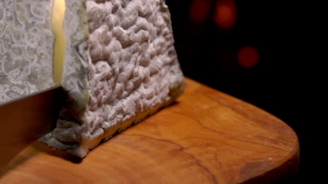 Pyramid of unpasteurised soft goats-milk cheese video