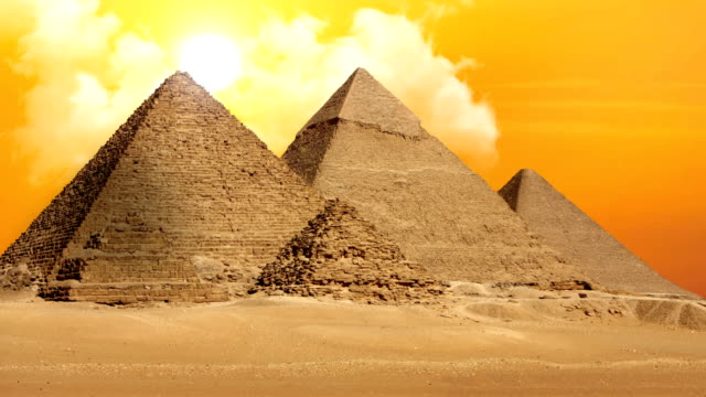 Pyramids of Giza Valley Necropolis - Time Lapse video