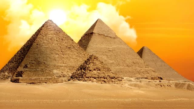 Pyramids of Giza Valley Necropolis - Time Lapse video
