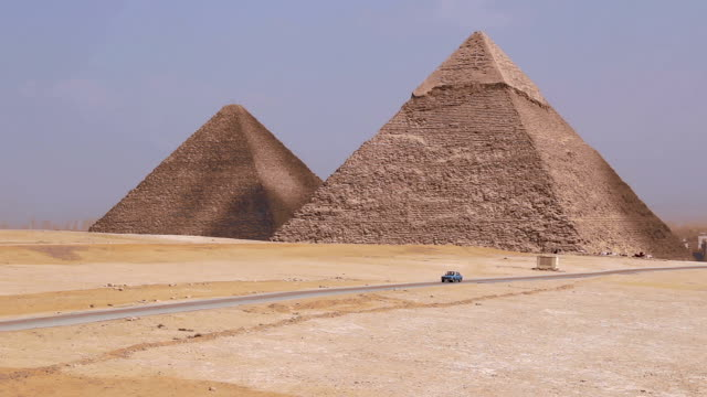 Pyramids on the background of Cairo. Egypt video