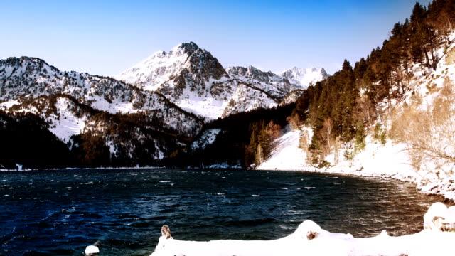 pyrenees mountain timelapse - lleida stok videoları ve detay görüntü çekimi