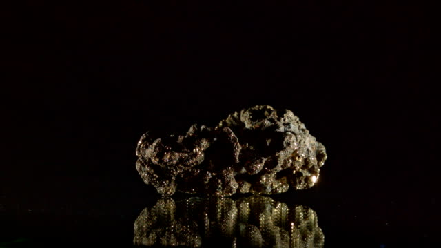 Pyrite on black video