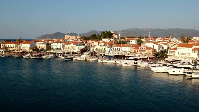 Pythagorion Townscape, Samos Island, Greece video