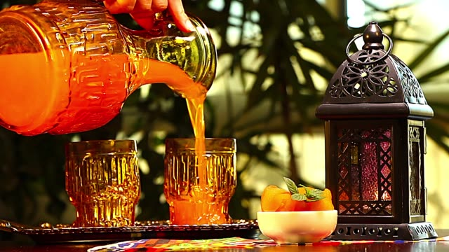 qamar el din (apricot juice) - ramadan stock videos and b-roll footage