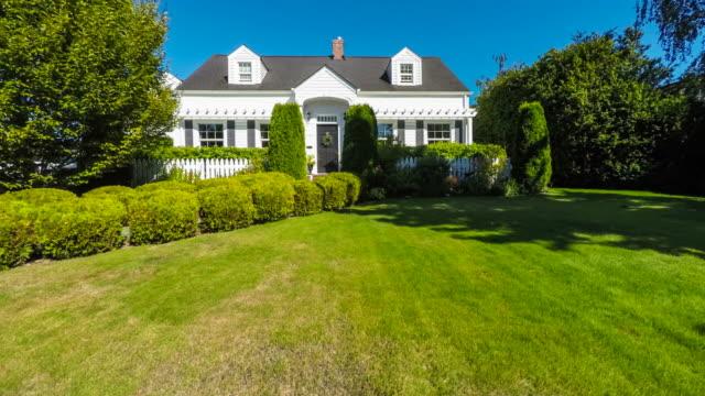 Quaint American Suburban Home Exterior