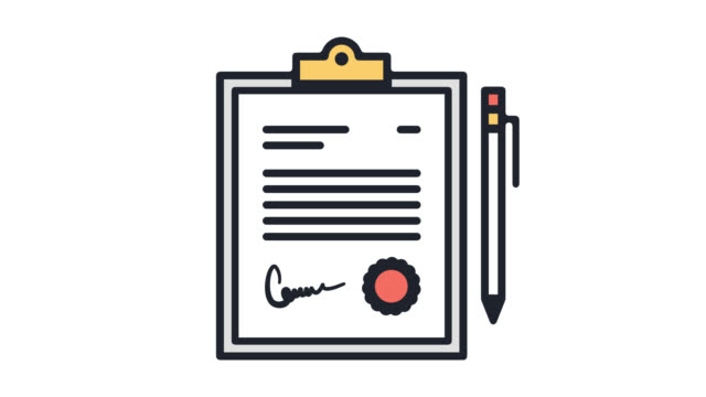Quality Control Process Flat Line Icon Animation with Alpha Quality control process motion graphic flat line icon animation. Alpha channel will be included when downloading the 4K Apple ProRes 4444 file only. contract stock videos & royalty-free footage