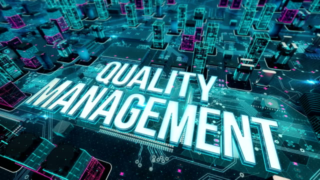 Quality Management with digital technology concept