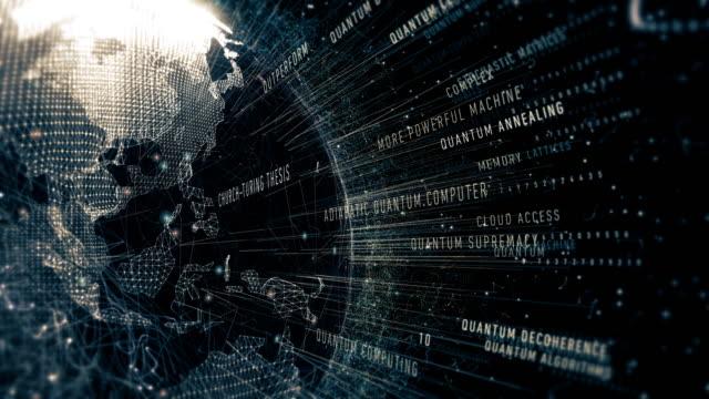quantum computer terminology - apprendimento automatico video stock e b–roll