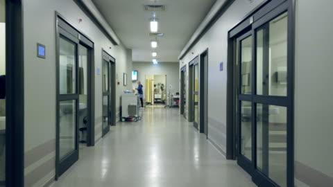 Quarantined hospital corridor for COVID-19 Quarantined hospital corridor for COVID-19 covid stock videos & royalty-free footage
