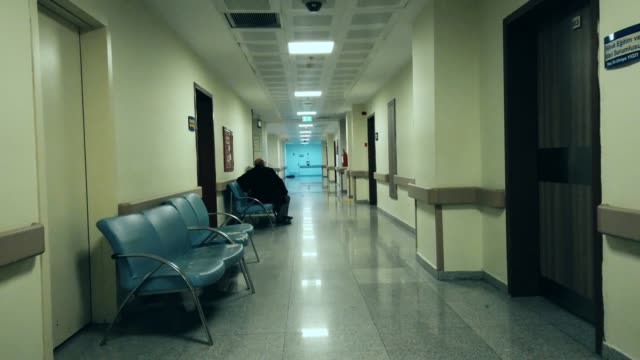 quarantined hospital corridor for covid-19 - covid ospedale video stock e b–roll