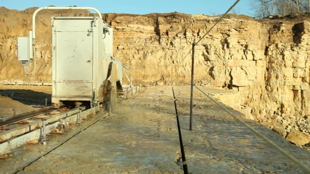 Quarry Saw Schneiden Kalkstein-Felsen – Video