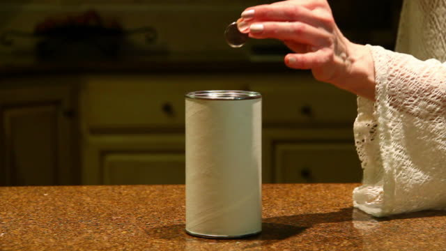 Quarter In The Charity Box video