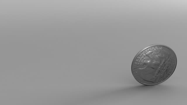 Quarter Spinning Animation of a quarter spinning. us coin stock videos & royalty-free footage