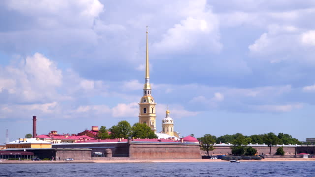 Quay of the Neva near the Peter and Paul Fortress video