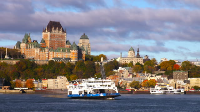 quebec city along the st lawrence river - canada travel stock videos and b-roll footage