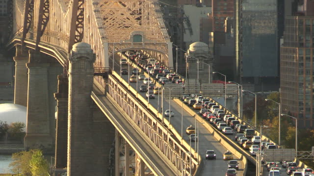 Queensboro Bridge Traffic in New York City video