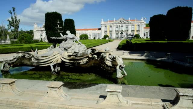 Queluz National Palace fountain video