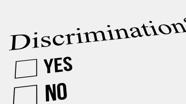 frage und antwort. diskriminierung – nein. umfrage. - feedback stock-videos und b-roll-filmmaterial