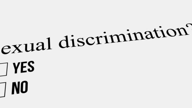 frage und antwort. sexuelle diskriminierung – nein. umfrage. - feedback stock-videos und b-roll-filmmaterial