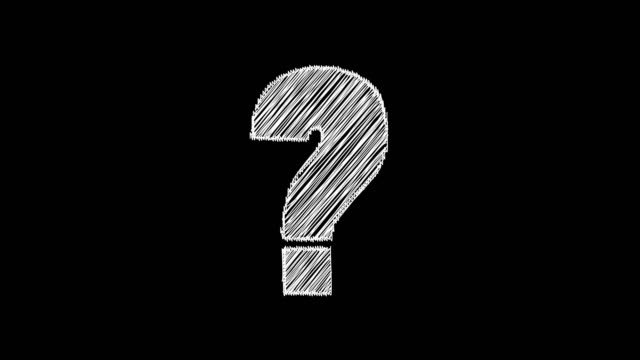 Question mark animation, chalk sketch style on black board, confusion concept Question mark animation, chalk sketch style on black board, confusion concept faq stock videos & royalty-free footage