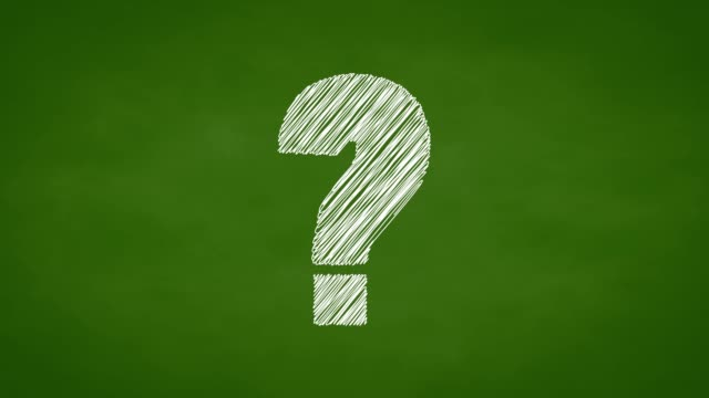 Question mark animation, chalk sketch style on green chalk board, confusion concept Question mark animation, chalk sketch style on green chalk board, confusion concept faq stock videos & royalty-free footage