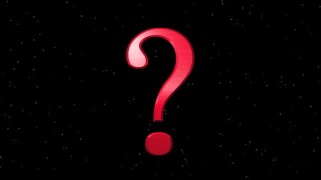 punto interrogativo esplodere - question mark video stock e b–roll