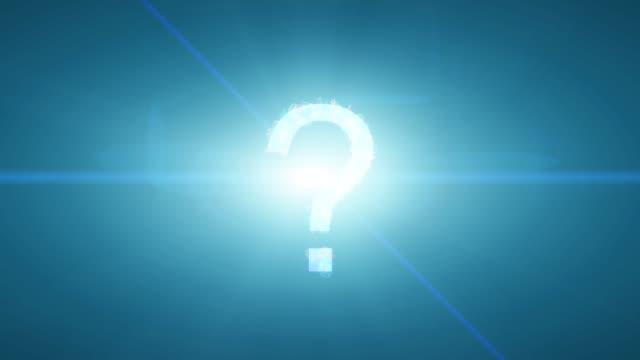 vídeos y material grabado en eventos de stock de interrogación explotan formando idea de transición de letras números ayuda faq respuesta - faq