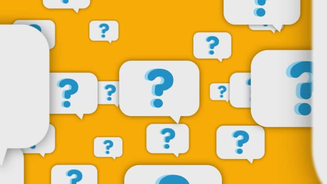 Question Mark Speech Bubbles Flying To Camera USA, Questionnaire, 4K Resolution, Abstract, Animation - Moving Image survey icon stock videos & royalty-free footage