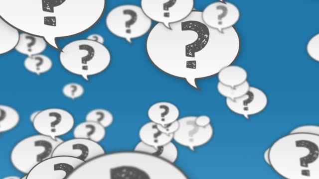 Question Mark Speech Bubbles Flying To Left Social media question mark speech balloons background animation faq stock videos & royalty-free footage