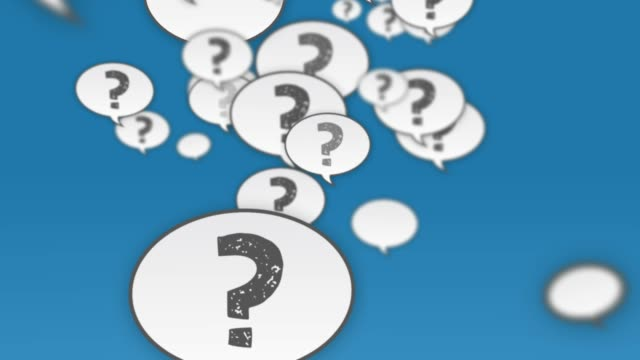 Question Mark Speech Bubbles Flying Up Social media question mark speech balloons background animation survey icon stock videos & royalty-free footage
