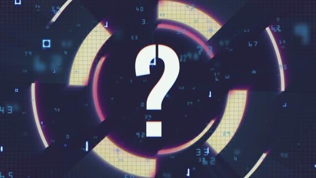 Question Mark Symbol, FAQ, Q&A - 4K Footage
