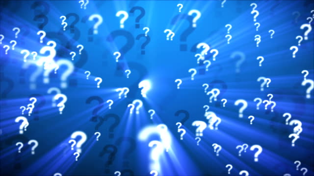 Question Marks Blue