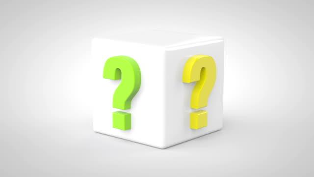 concetto di discussione - question mark video stock e b–roll