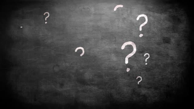 segni di domanda - question mark video stock e b–roll