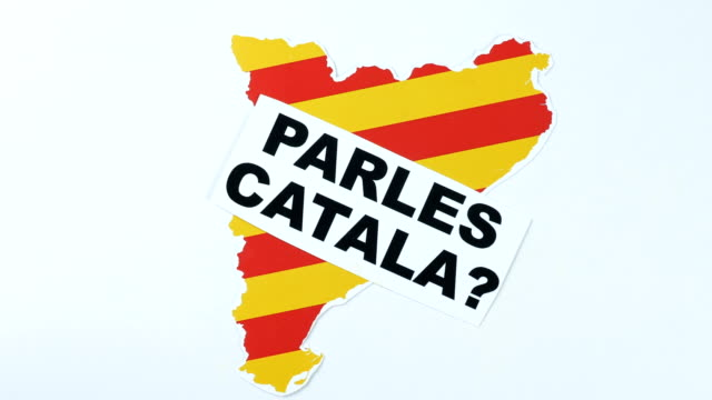 Question to people, do you speak Catalan, illustration. 50 fps video