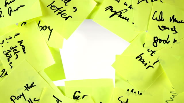 Question Woman hand with sticky note. Video. stick plant part stock videos & royalty-free footage
