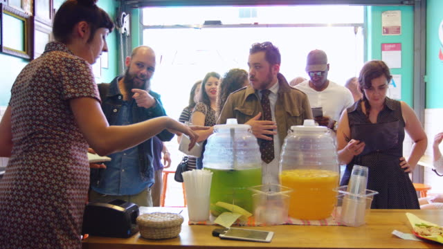 Queuing Customers at Popular Mexican Restaurant video