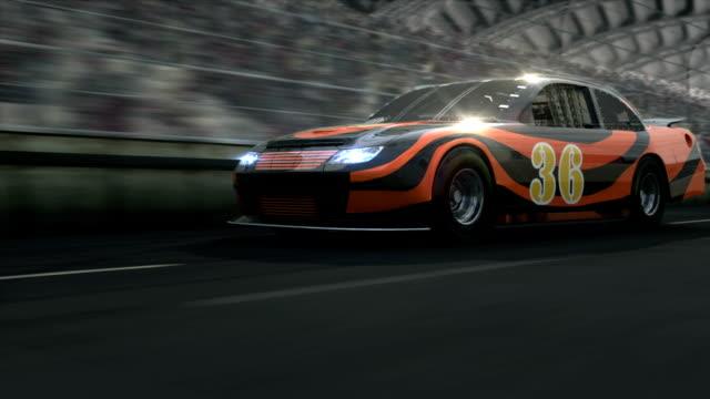 レースカーに、競馬場 - 戦い点の映像素材/bロール