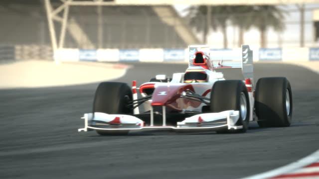 Race car on desert circuit video
