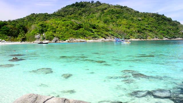 Racha island at Phuket Thailand Racha island at Phuket Thailand indian ocean islands stock videos & royalty-free footage