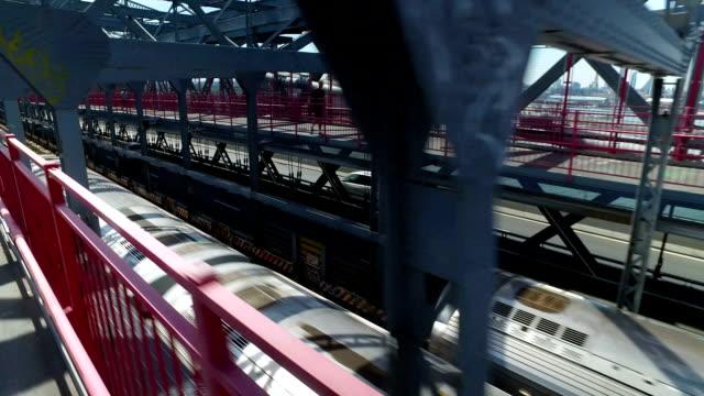 Racing a Manhattan Subway on the Williamsburg Bridge video