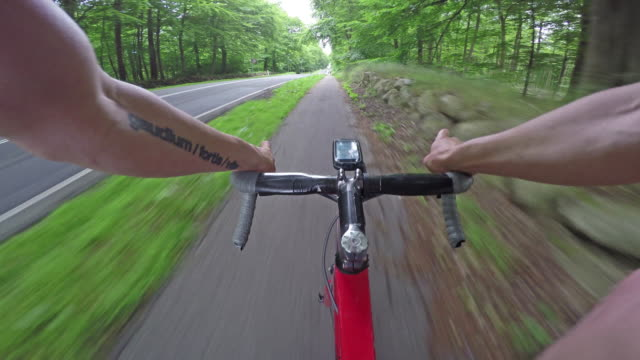racing bike on the bike path video