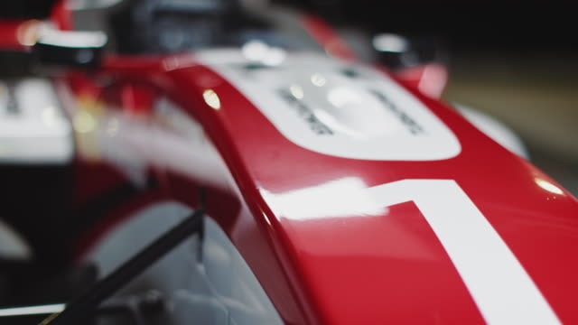racing car at pit stop
