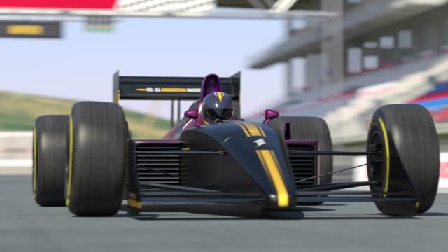 Yarış araba yarış için - 4 K 3D animasyon hazırlanıyor video